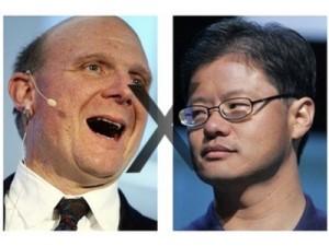 Steve Ballmer(CEO Microsoft) Jerry Yang(CEO Yahoo)