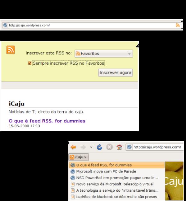 Passo-a-passo mostrando como assinar feeds RSS no Firefox 3 Beta 5