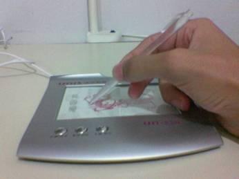Usando o tablet