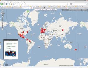 Mapa dos casos registrados (clique para ampliar)